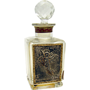 Cut Glass French Perfume Bottle - 1920's