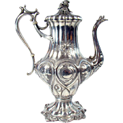 Large Silver Plated Reed & Barton Coffee Pot - 1870's