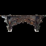 Black Walnut Carved Wood Shelf - 1880's