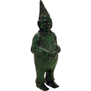 Cast Iron Green Clown Bank - 1880's