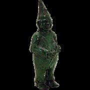 Cast Iron Green Clown Bank - 1880's