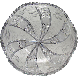 Signed Tuthill Cut Glass Bowl