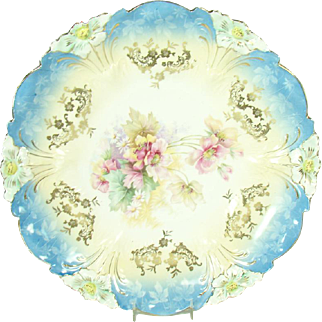 Large R. S. Prussia Porcelain Cake Plate