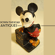 Disney Composition Mickey Mouse Toy Bank c.1930's