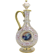 Hand-Blown Venetian Glass Ewer with Stopper - 1900