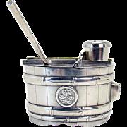 Signed Sterling Salt and Pepperette in Barrel Form
