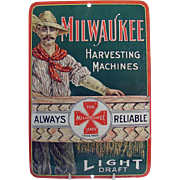 Milwaukee Harvesting Machines Advertising Match-strike - Rare