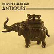 Elephant Figural Lift Arm Lighter