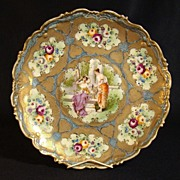 Large Hand-Painted Porcelain Charger with Portrait - 1890's