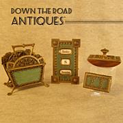 Four Piece Bronze Desk Set with Enamel - 1890's
