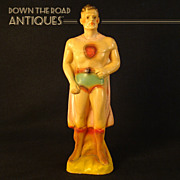 Superman Chalkware Carnival Figurine ( rare version) 1940s