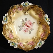 R.S. Prussia Rose Bowl in Lilly Mold Pattern