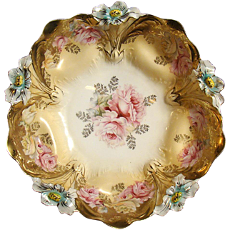 R. S. Prussia Rose Bowl in Lilly Mold Pattern