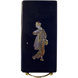 Japanese Gold and Silver Inlaid Cigarette Case