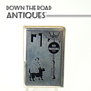 Sterling Art Deco Novelty Match Safe - Scotty Dog