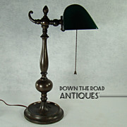 Bronze Emeralite Desk Lamp