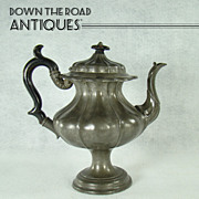 James Dixon & Sons Pewter Coffee Pot - c.1870's