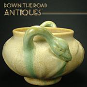 Weller Art Pottery Vase with Bird Handles
