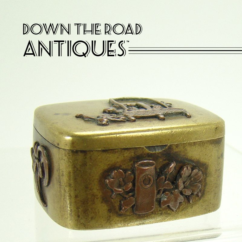 Japanese Shokudo Mixed Metals Pill Box