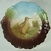 Large Bavarian Game Plate with Woodcock