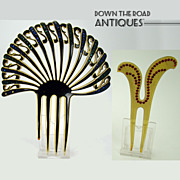 Black & Amber Mantilla Hair Comb