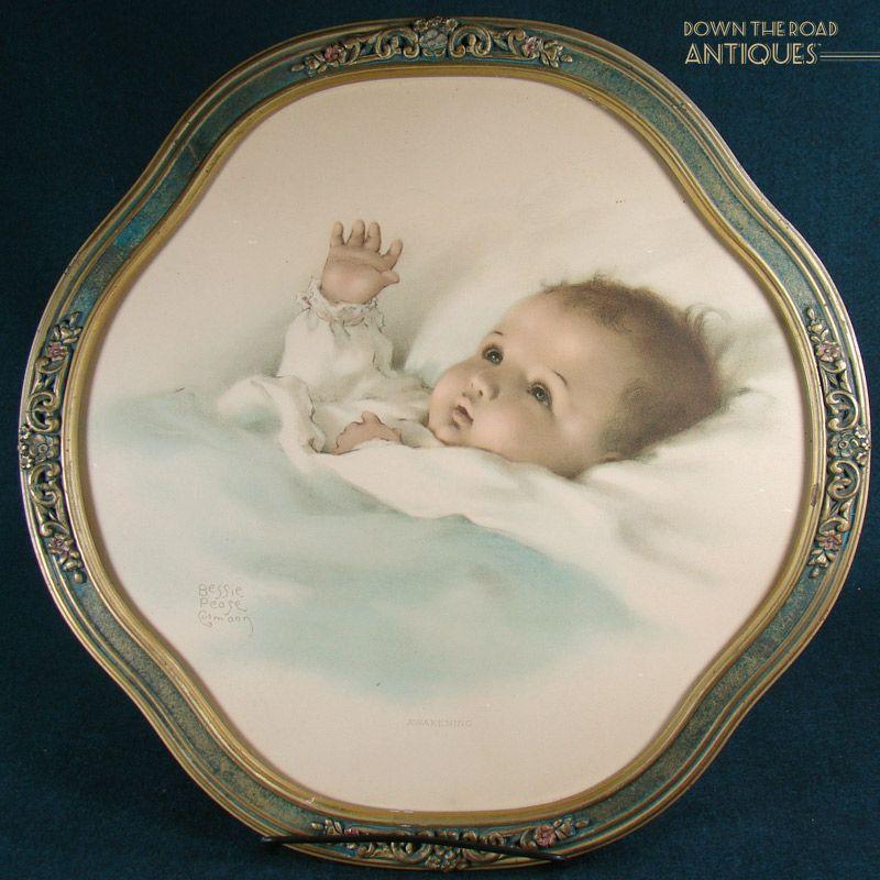 Bessie Pease Gutmann Lithograph X22Awakeningx22 on Victorian Baby Furniture