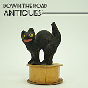 German Black Cat Candy Container