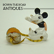 Rare Porcelain Pie-Eyed Mickey Mouse with Pin Cushion