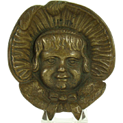 Solid Brass Change Dish - Baby with Bonnet
