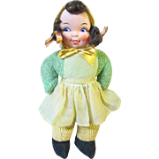 """Carnival type chenille doll, 1950-60's 15"""""""