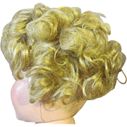 "Original Shirley Temple Mohair Wig, 13"" head circumference"