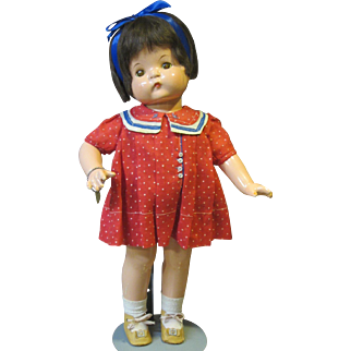 """Effanbee Patsy Ann, 19"""", original outfit and bracelet."""