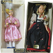 Two ethnic dolls, India and France, in original boxes