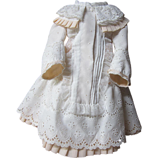"""Lovely dress and bonnet for 18-20"""" French or German Bisque doll"""