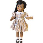 "Hard Plastic Brown Girl, 17"" Marked Sonni"