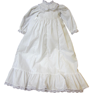 Christening-type gown, slip and bloomers for larger baby doll. 3 piece set