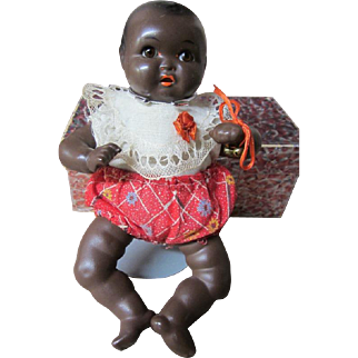 """Black baby, 9"""" tall, all original with box, Possible """"Puz Baby"""""""