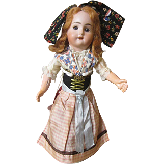 """French bisque  Alsace county girl,  all original, 12"""""""