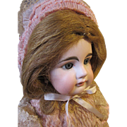 "French Bebe, Mystery girl, French body, Antique outfit, 19"" tall"