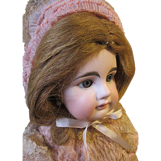 """French Bebe, Mystery girl, French body, Antique outfit, 19"""" tall"""