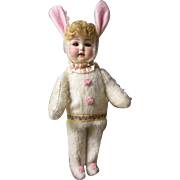 """Armand Marseilles painted bisque Bunny, mold 996, 16"""""""