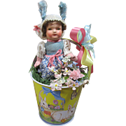 German Papier Mache Easter girl