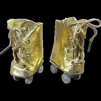 Terri Lee gold roller skates