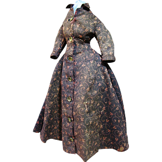 """Antique gown for French or German bisque doll 20"""""""