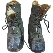 Doll or child's antique shoes