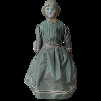 "Kling or ABG China head doll, great body, 14 1/2"""