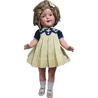 "Shirley Temple, 20"" all original, tagged dress"