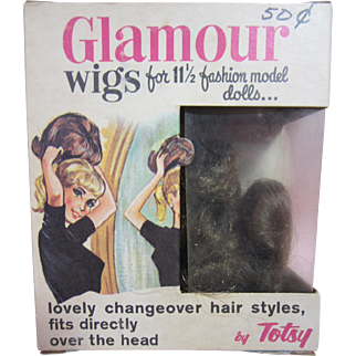 Glamour Doll Wig by Totsy, In original box, 1960's
