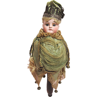 Marotte, German bisque dome head, closed mouth, all original