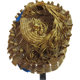 Woven Straw hat for Antique French Fashion doll